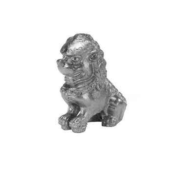 Foo Dog S, Pair Of Silver Leaf Foo Dog Bookends
