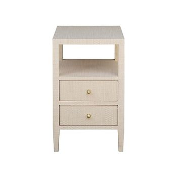 Roscoe Nat, Two Drawer Side Table