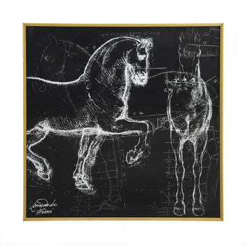 Davinci Horse Drawing Art Print